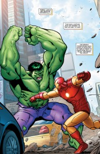Hulk Vs Iron Man simulation from Avengers Season One