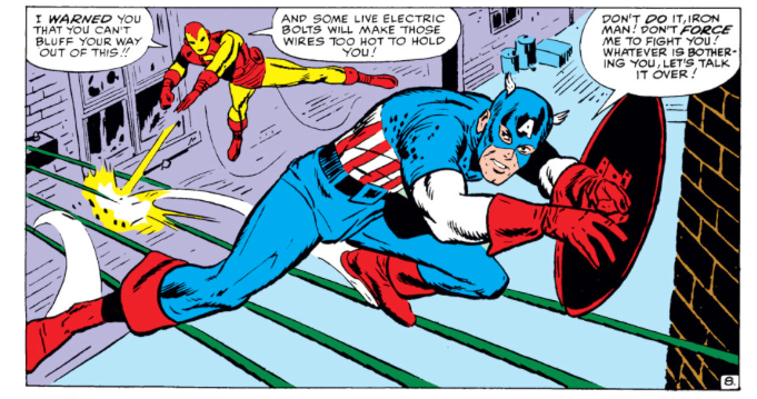Captain America and Iron Man Do Battle