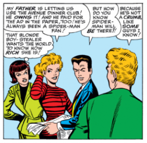 Betty Brant Liz Allan and peter parker love triangle