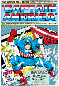 Captain America bursting onto the scene ToS-59