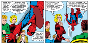 Spider-Man thinks Liz Allan suspects his real identity