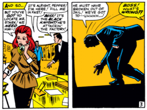 Tony Stark becomes Ill as he enters his office