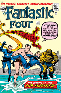 Fantastic Four #4 Cover The coming of the Sub-Mariner