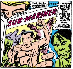 Johnny Storm Reading a Sub Mariner comic